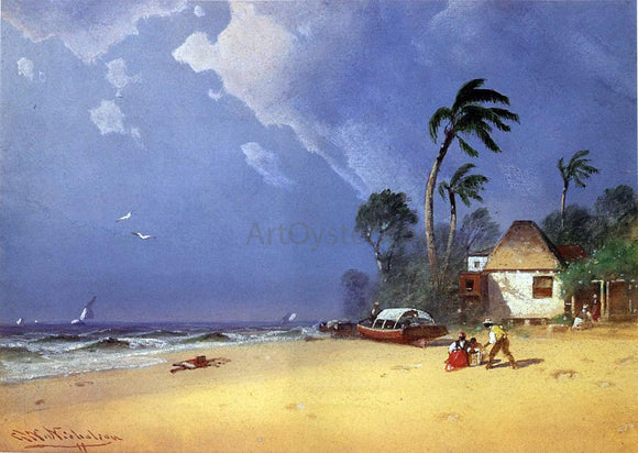 George Washington Nicholson A Bahamian Scene - Canvas Art Print