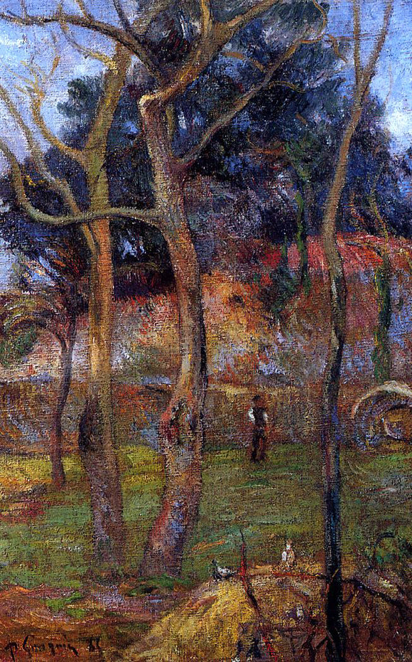 Paul Gauguin Bare Trees - Canvas Art Print