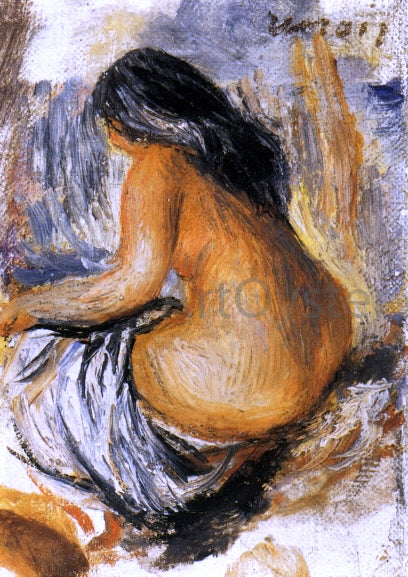 Pierre Auguste Renoir Bather from the Back - Canvas Art Print
