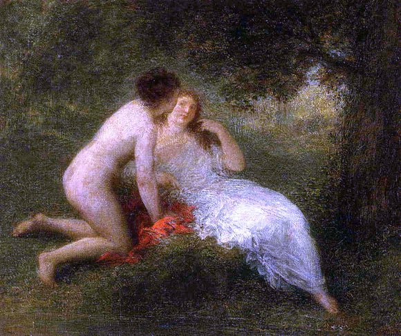 Henri Fantin-Latour Bathers (also known as The Secret) - Canvas Art Print