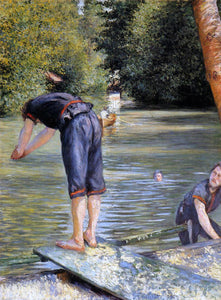 Gustave Caillebotte A Bather - Canvas Art Print