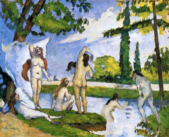 Paul Cezanne Bathers - Canvas Art Print