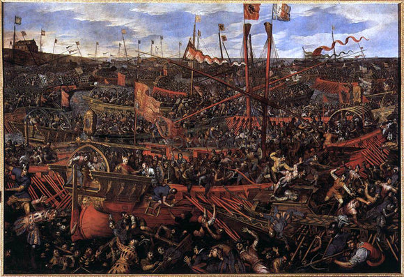 Domenico Robusti Battle of Salvore - Canvas Art Print