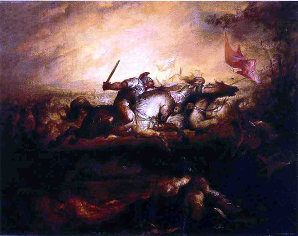 William Rimmer Battle of the Amazons - Canvas Art Print