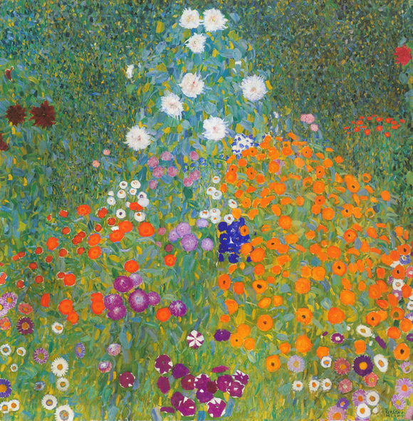 Gustav Klimt Blooming Field - Canvas Art Print