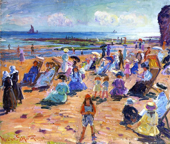 William Samuel Horton Beach Scene - Canvas Art Print