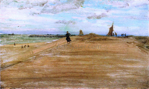 James McNeill Whistler Beach Scene - Canvas Art Print