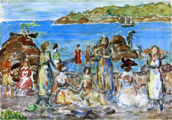 Maurice Prendergast Beach Scene, New England - Canvas Art Print