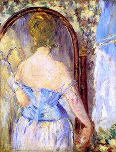 Edouard Manet Before the Mirror - Canvas Art Print