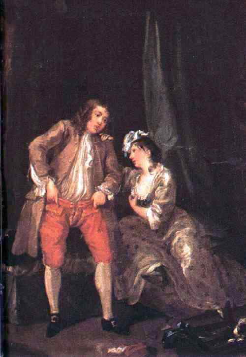 William Hogarth Before the Seduction and After - Canvas Art Print