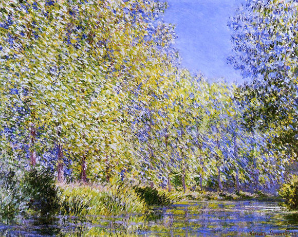 Claude Oscar Monet Bend in the River Epte - Canvas Art Print