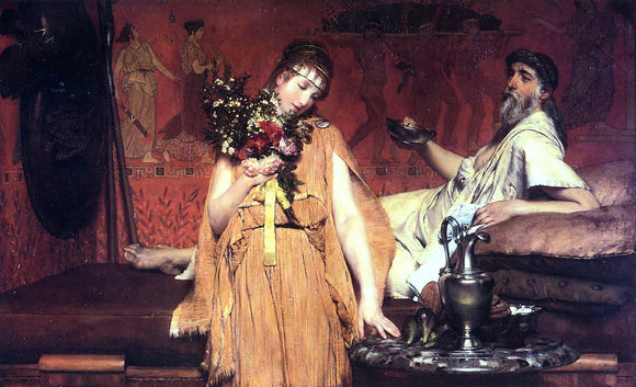 Sir Lawrence Alma-Tadema Between Hope and Fear - Canvas Art Print