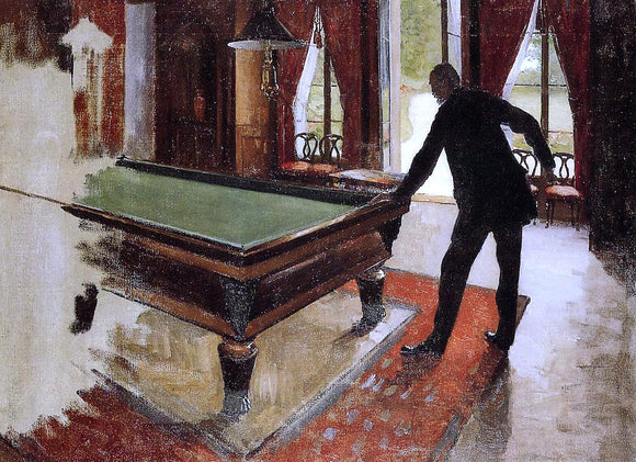 Gustave Caillebotte Billiards (unfinished) - Canvas Art Print