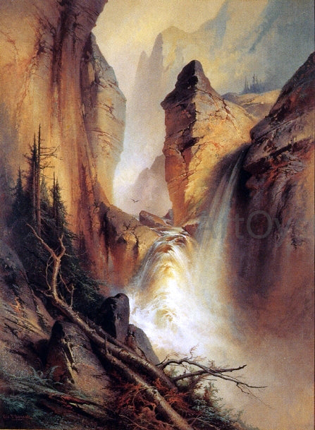George Frederick Bensell Black Canyon, Colorado - Canvas Art Print