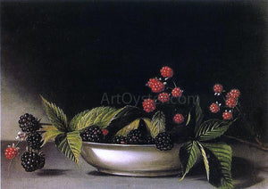 Raphaelle Peale Blackberries - Canvas Art Print