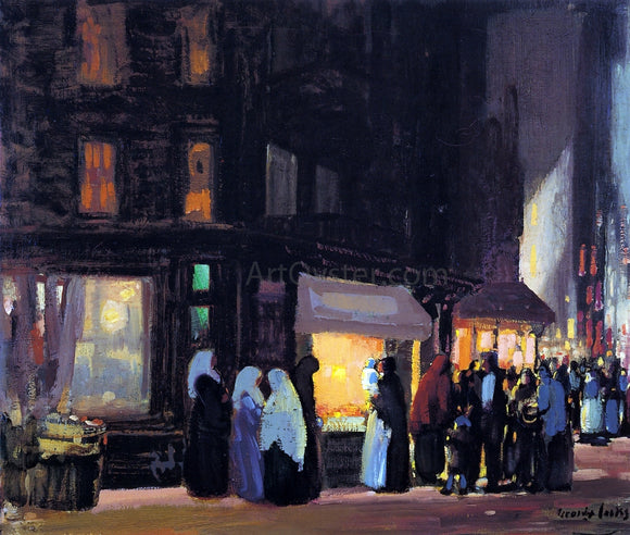 George Luks Bleeker and Carmine Streets - Canvas Art Print