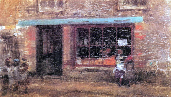 James McNeill Whistler Blue and Orange: The Sweet Shop - Canvas Art Print