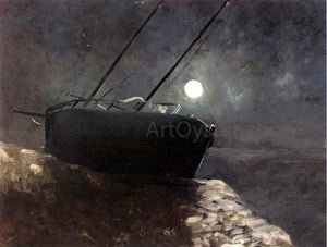 Odilon Redon Boat in the Moonlight - Canvas Art Print
