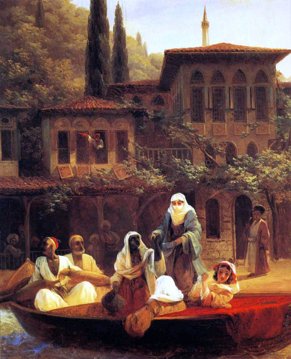 Ivan Constantinovich Aivazovsky Boat Ride by Kumkapi in Constantinople - Canvas Art Print