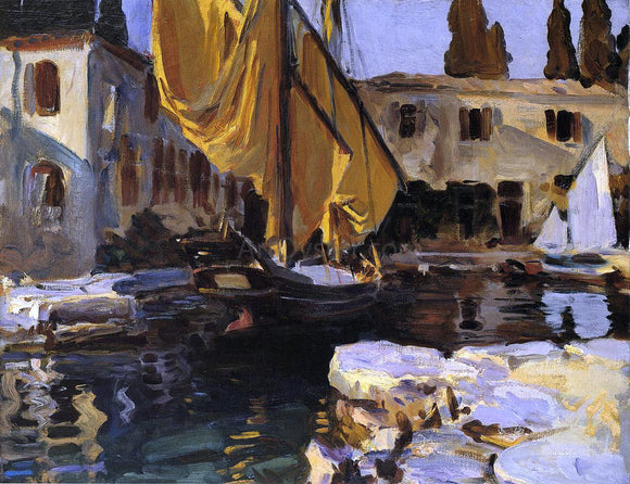 John Singer Sargent Boat with The Golden Sail, San Vigilio - Canvas Art Print