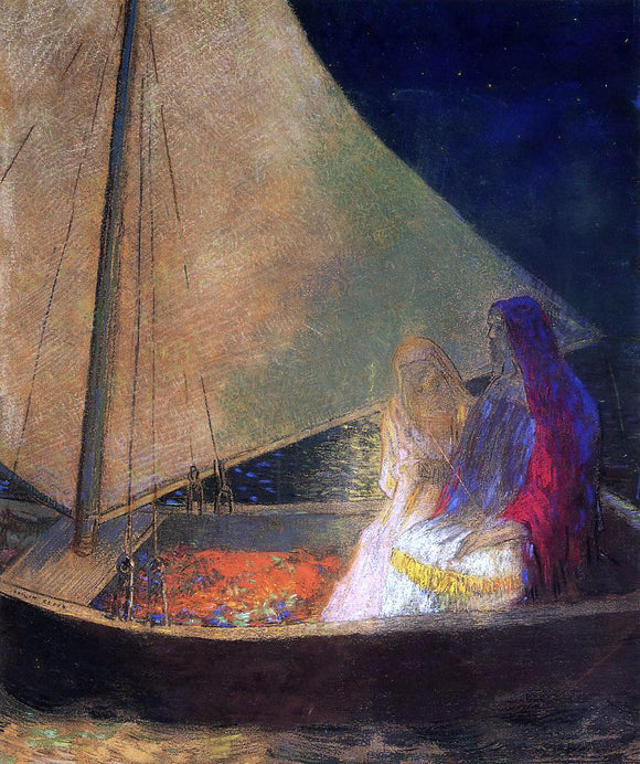 Odilon Redon Boat with Two Figures - Canvas Art Print