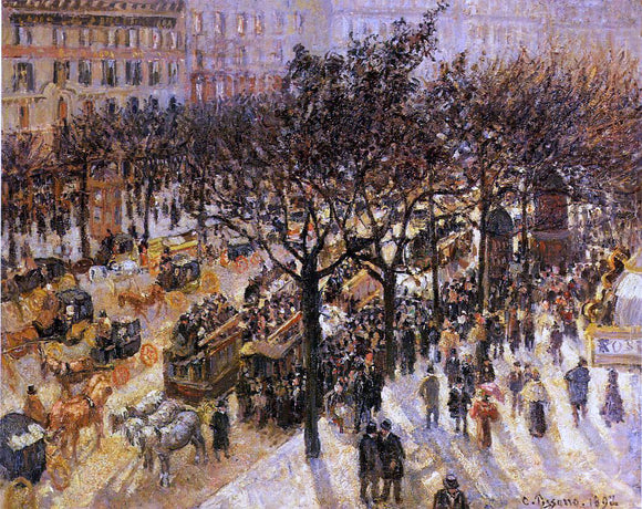 Camille Pissarro Boulevard des Italiens: Afternoon - Canvas Art Print