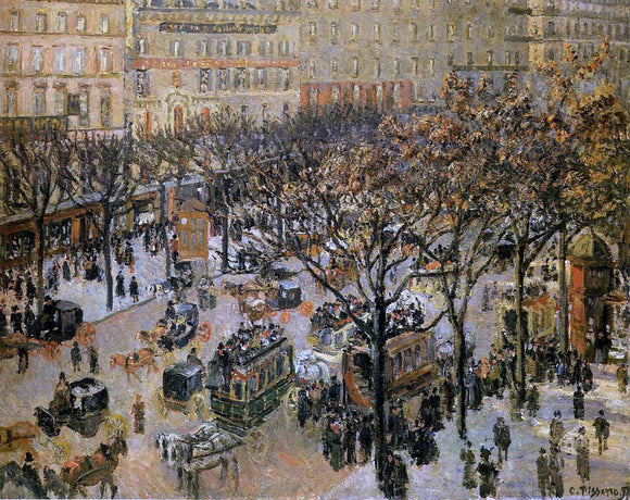 Camille Pissarro Boulevard des Italiens: Morning, Sunlight - Canvas Art Print