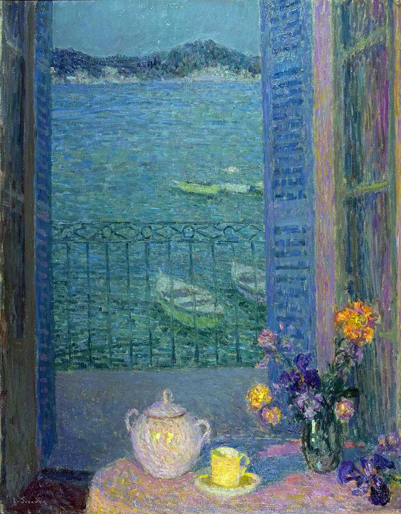 Henri Le Sidaner Bouquet by the window - Canvas Art Print