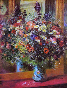 Pierre Auguste Renoir A Bouquet in Front of a Mirror - Canvas Art Print