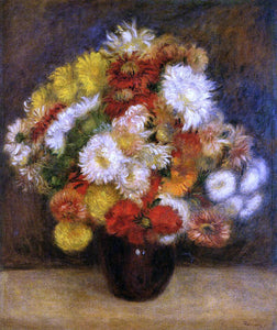 Pierre Auguste Renoir Bouquet of Chrysanthemums - Canvas Art Print
