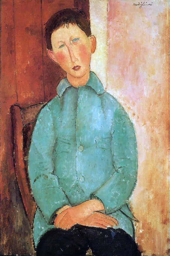 Amedeo Modigliani Boy in a Blue Shirt - Canvas Art Print