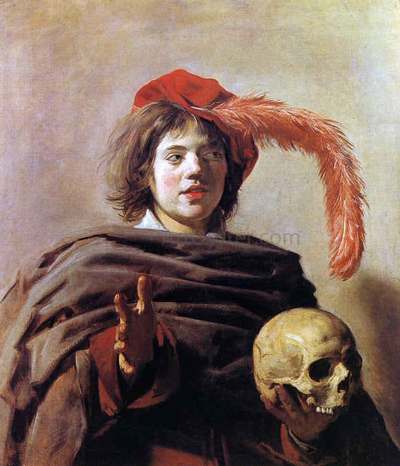 Frans Hals Boy with a Skull - Canvas Art Print