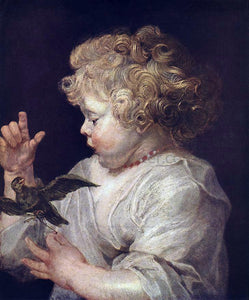 Peter Paul Rubens Boy with Bird - Canvas Art Print