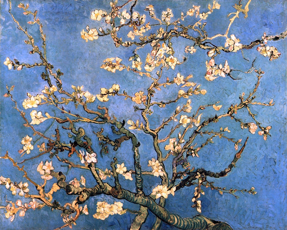 Vincent Van Gogh A Branch with Almond Blossom - Canvas Art Print