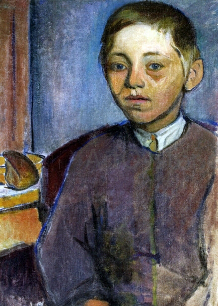 Wladyslaw Slewinski Breton Boy with Bread - Canvas Art Print