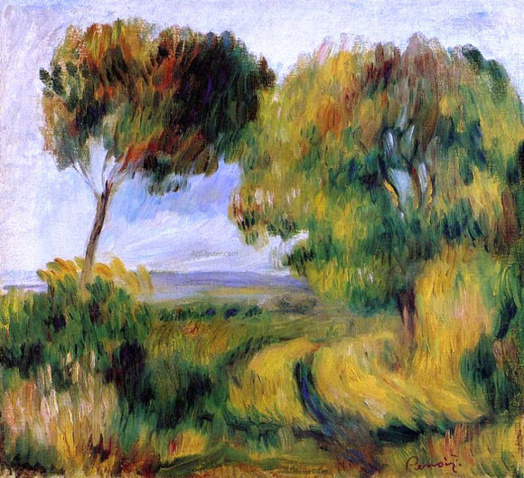 Pierre Auguste Renoir Breton Landscape - Trees and Moor - Canvas Art Print