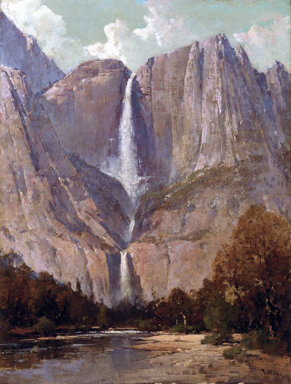 Thomas Hill Bridal Veil Falls, Yosemite - Canvas Art Print