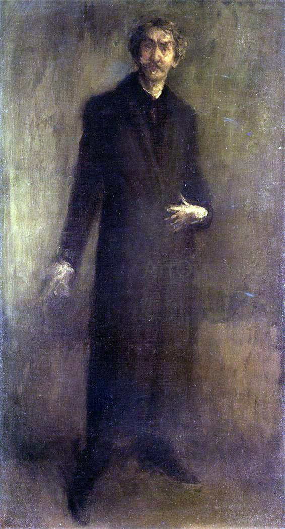 James McNeill Whistler Brown and Gold (also known as Self Portrait) - Canvas Art Print