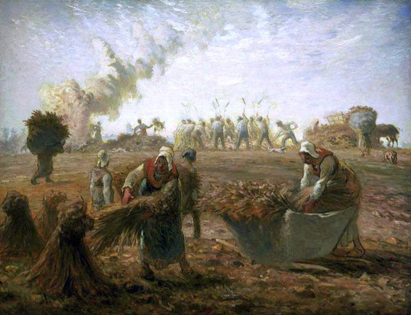 Jean-Francois Millet Buckwheat Harvest: Summer - Canvas Art Print