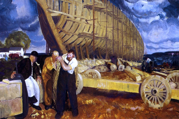 George Wesley Bellows Builders of Ships - Canvas Art Print