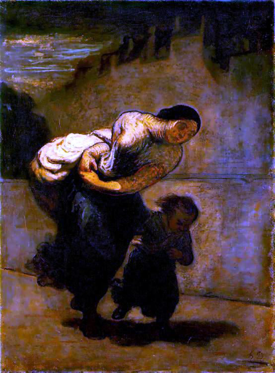 Honore Daumier Burden - Canvas Art Print