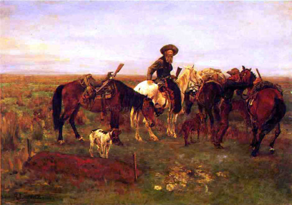 Richard Lorenz Burial on The Plains - Canvas Art Print