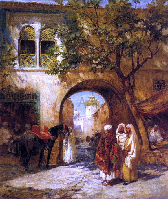 Frederick Arthur Bridgeman By the City Gate - Canvas Art Print
