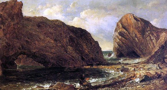 Jasper Francis Cropsey By the Sea, Lulworth - Canvas Art Print