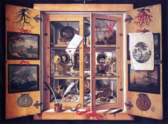 Domenico Remps Cabinet of Curiosities - Canvas Art Print