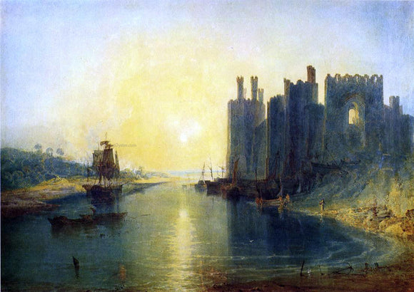 Joseph William Turner Caernarvon Castle - Canvas Art Print