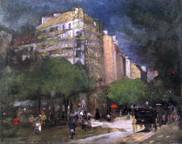 Robert Henri Cafe du Dome (also known as On the Boulevard Montparnasse) - Canvas Art Print