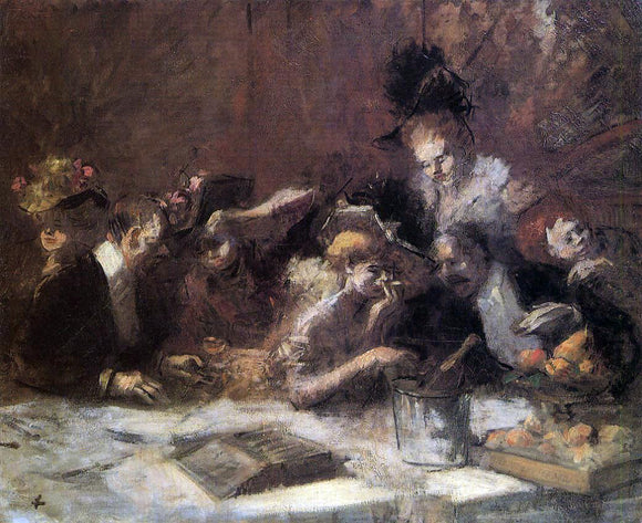 Jean-Louis Forain Cafe Maxim, Paris - Canvas Art Print