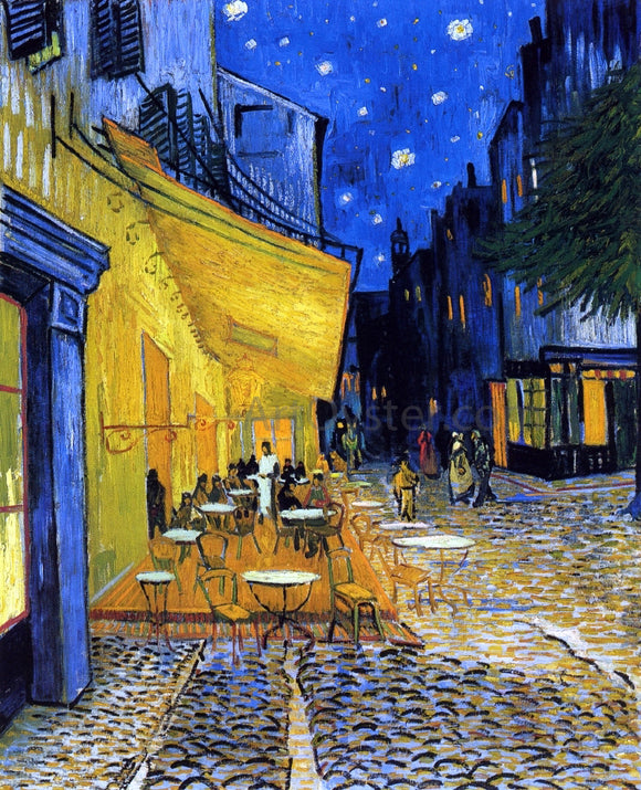 Vincent Van Gogh A Cafe Terrace on the Place du Forum (also known as Cafe Terrace at Night) - Canvas Art Print