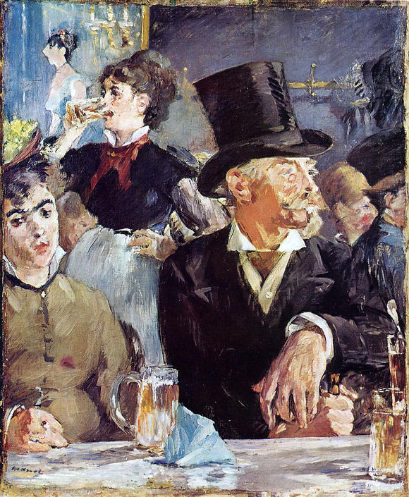 Edouard Manet Cafe-Concert - Canvas Art Print